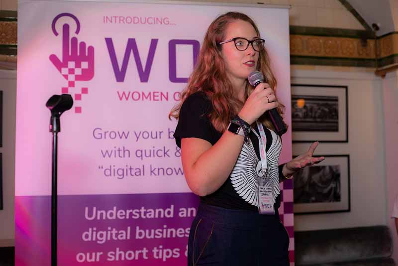 Digital literacy Women On the Web contributor partners at launch nov 15 2018